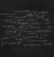Chalk board with formulas vector image