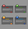 Notification windows vector image vector image