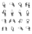 Hand Phone Icons vector image