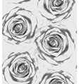 vertical seamless background with gray roses vector image