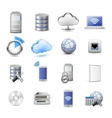 IT web hosting icons vector image