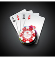 on a casino theme with playing cards vector image