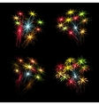 A set of colorful fireworks in honor of US vector image