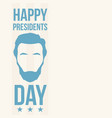 abraham lincoln happy presidents day vector image