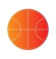 Basketball ball sign Orange applique vector image