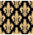 Floral seamless pattern with fleur-de-lis elements vector image