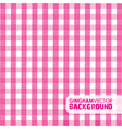 gingham pinky vector image