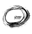 Grunge frame Ink circle Hand drawn dry vector image