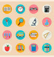 objects for school back to study set of round vector image