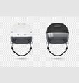 realistic classic ice hockey helmets with visor vector image