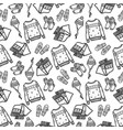 seamless pattern of winter clothes with ornament vector image