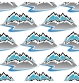 Seamless pattern of winter mountains and streams vector image