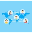 Social Network Concept Flat Design vector image