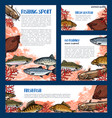 templates set of fishes for fishing sport vector image