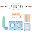 White Background Launday vector image