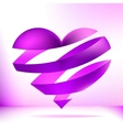 Purple heart on a light background  EPS8 vector image
