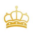 Elegant gold crown luxury ornament jewelry vintage vector image