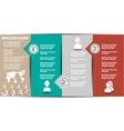 INFOGRAPHIC MODERN TEMPLATE 2 vector image vector image