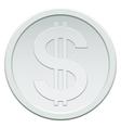 Silver coin vector image vector image