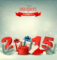 Holiday background with presents and a 2015 vector image