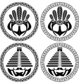 stencils of native indian american masks vector image