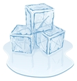ice cube pile vector image