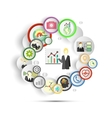Infographic with icons for business vector image
