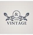 Calligraphic Vintage emblem Floral art vector image vector image