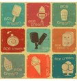 ice cream labels vector image