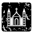Church christian icon grunge style vector image