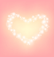 heart abstrack sparkling frame pink background vector image