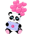 Panda With Letter vector image