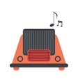 radio music communication device vector image
