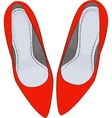 RED shoes heels vector image