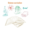 Science curriculum concept vector image