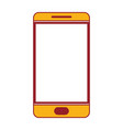 smartphone icon in color sections silhouette vector image