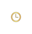 Time clock computer symbol vector image