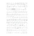 Web icons set line thin style vector image