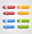 Set of buttons vector image vector image