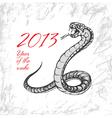 2013 snake vector image