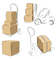 storehouse carts vector image