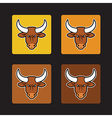 brown bull set vector image vector image