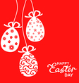 easter lace red vector image