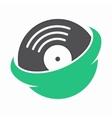 vinyl records universe logo vector image