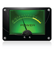 green signal meter vector image