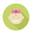 Baby girl flat icon vector image vector image