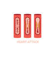 heart attack vector image