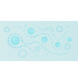 Blue abstract squares lines and circles vector image