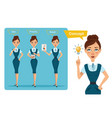 business women characters concept vector image