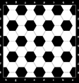 Chess Board with soccer ball texture vector image